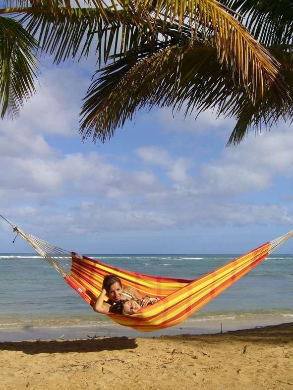 Amazonas Barbados Papaya hangmat zonder spreidstok