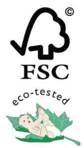 Logo Eco-tested & FSC
