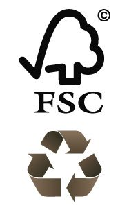 Logo FSC & Recycle